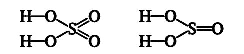 Составление структурных формул кислородсодержащих кислот