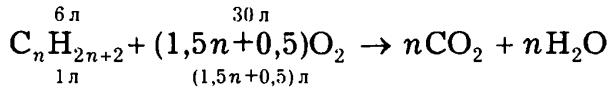 уравнение реакции горения алкана